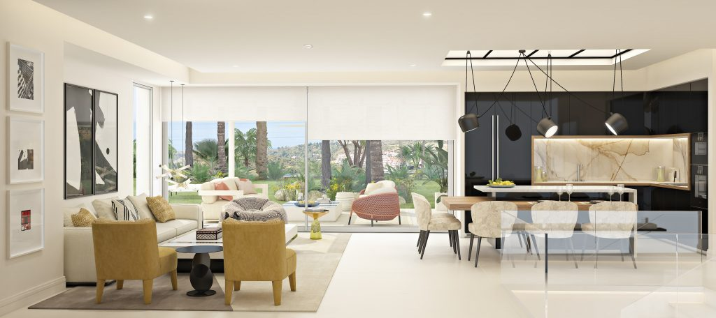 Marbella Club Hills show flat salon interior design