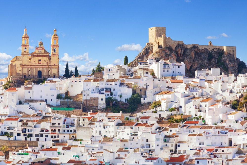 Olvera white city of Andalusia