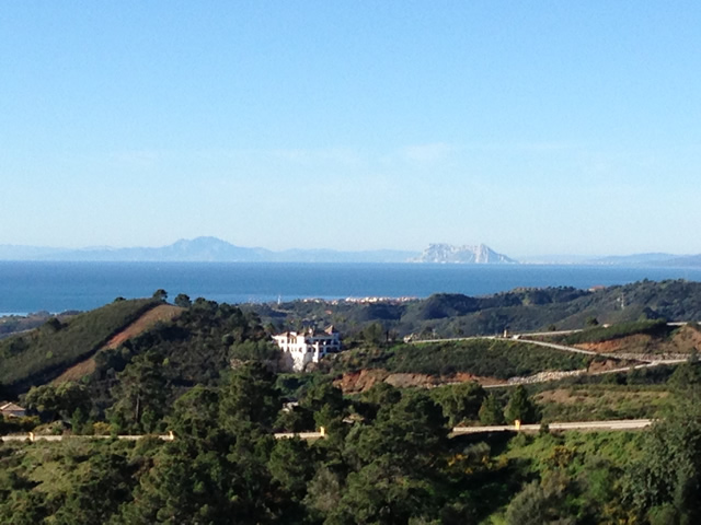 Views on Gibraltar and Morocco from Marbella Club Hills and Marbella Club Golf