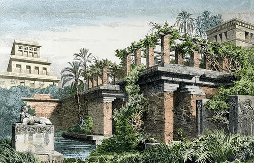 Hanging gardens of Babylon, vertical gardens