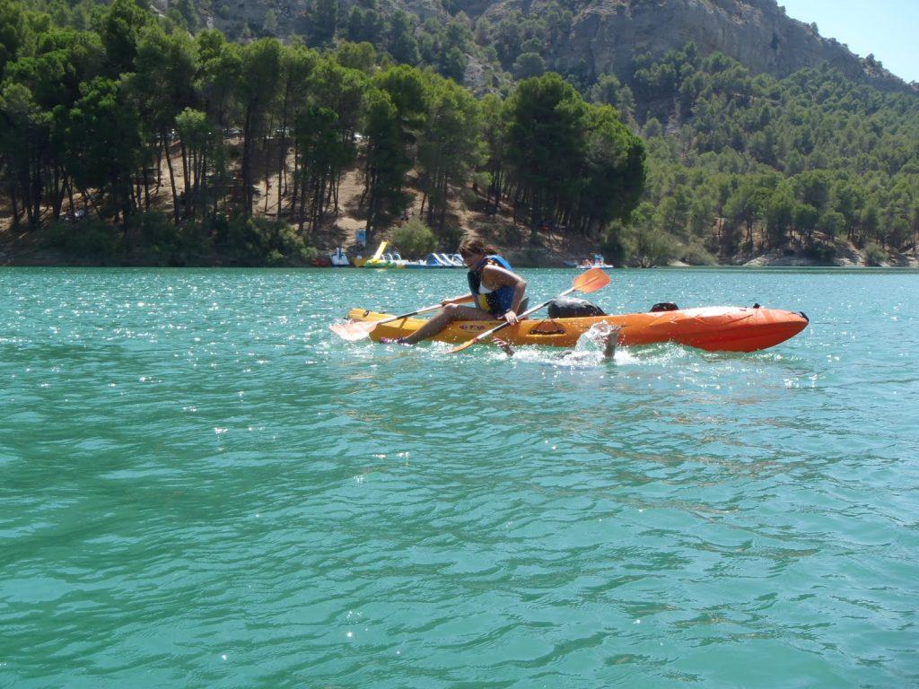 Kayaking in El Chorro