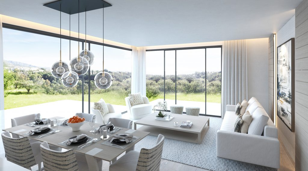 High ceilings at Marbella Club Hills