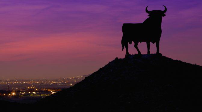 Black bull of Andalusia advertising