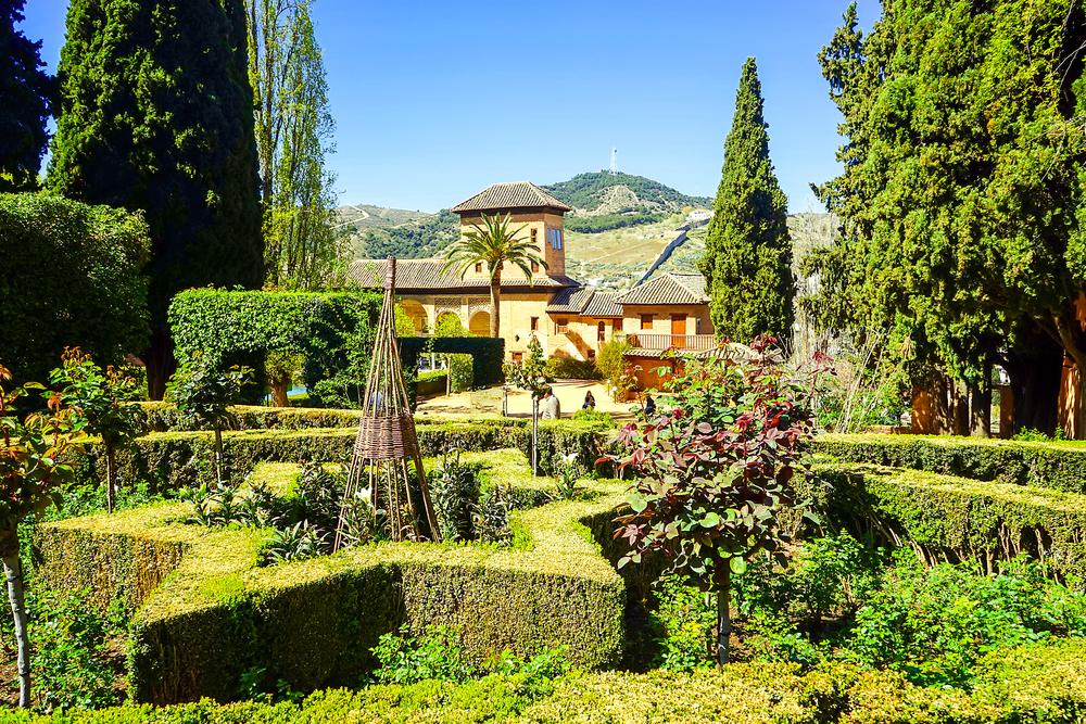 Granada Alhambra gardens